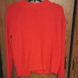 Red H&M Back Zip Sweater